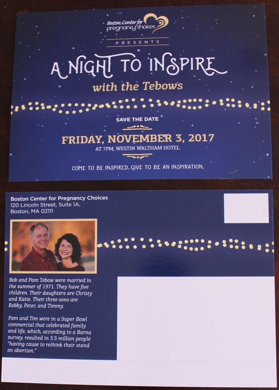 A Night To Inspire - Invitation