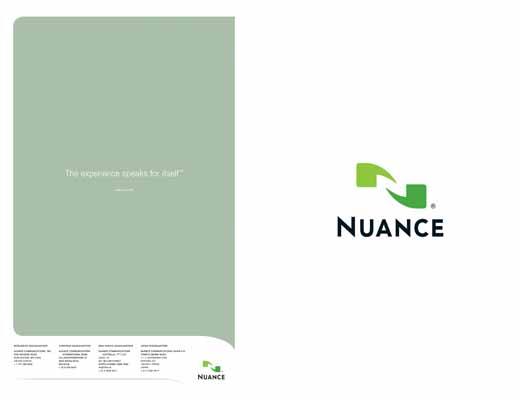 Nuance Marketing Folder